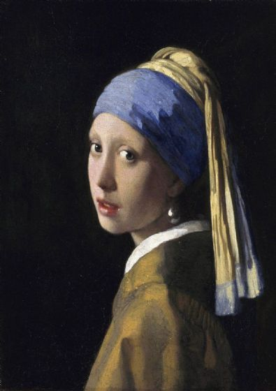 Vermeer, Johannes: The Girl with a Pearl Earring. Fine Art Print/Poster. Sizes: A4/A3/A2/A1 (00591)